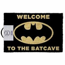Batman 'Bienvenido a La Batcave' Negro Felpudo