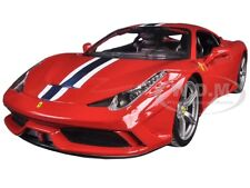FERRARI 458 SPECIALE RED 1:18 DIECAST MODEL CAR BY BBURAGO 16002