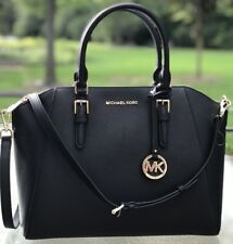 NWT MICHAEL KORS CIARA LARGE BAG BLACK SAFFIANO LEATHER PURSE SATCHEL