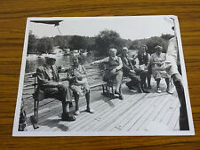 C1960s Large Photo: 6 People on the Deck of a River Cruise Boat