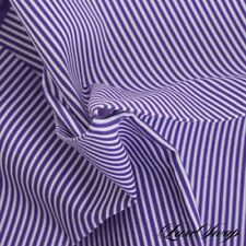 NWT Roda Made Italy 100% Cotton Grape Purple White Awning Stripe Pocket Square