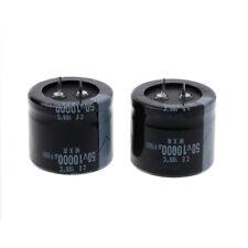 2 Pcs 10000uF Capacitance Snap-in Aluminum Electrolytic Radial Capacitor 50V