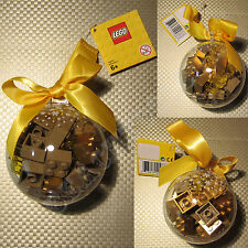 New LEGO Christmas Tree Decoration Gold Bricks Bauble 853345 Ornaments Stocking
