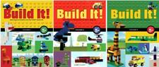 BUILD IT! Lego Block Creation Series by Jennifer Kemmeter PAPERBACK Volumes 1-3
