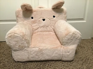 Pottery Barn Kids Pink Plush Bunny My First Anywhere Chair Slipcover Cover 🐰
