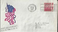 2/17/42 WWII Patriotic Cover Not Censored, this is the USA