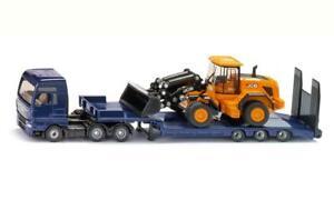 NEW Siku MAN TGX Truck with Low Loader & JCB Wheel Loader Die Cast Toy Car 1790