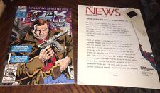 William Shatner Signed Tek World 1st Edtion Tekworld And 1992 Marvel News Releas