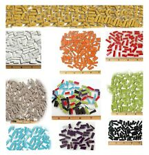 Very Small Rectangle Broken China Mosaic Tiles, 13 Color Variations