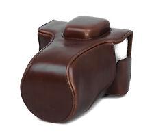 Camera Case Case for Olympus E-M5 Mark II Faux Leather Bag Coffee CC1375b