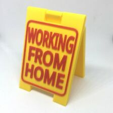 Working from home / W*nking from home Mini Sign - Funny Novelty Sandwich Board