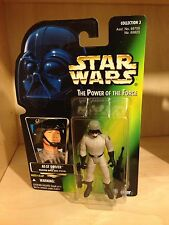 STAR WARS AT-ST DRIVER 1997 ( POTF ) GREEN CARD COLLECTABLE ACTION FIGURE