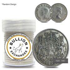 $10 Face Value 1920-1967 Canadian Half-Dollar 80% Silver 20-Coin Roll (Avg Circ)