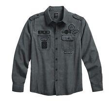 "Harley-Davidson Camiseta hombre ""WORK"" Camisa casual,Lino 96565-17VM/000L Talla"