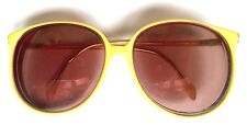 VINTAGE ITALIAN LUXOTTICA 1374 AVANTE GARDE YELLOW UV OPTICS SUNGLASSES FRAMES