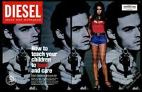 1993 Diesel jeans fashions man with gun photo Teach Your Children to Love ad