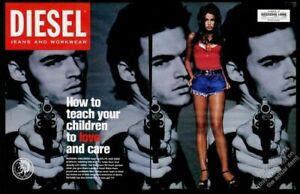 1993 Diesel Jeans Fashions Homme Avec Pistolet Photo Enseignement Votre Enfants'