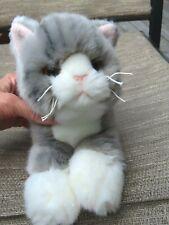 "Bearington Collection Socks 14"" Gray Striped Tabby Cat soft plush stuffed animal"