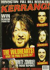 Kerrang UK Rock Mag No556 Wildhearts Faith no more Sepultura Ice-T Therapy