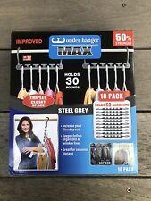 Wonder Hanger Max Closet Storage Organizer for Clothes Hangers, Pack of 10