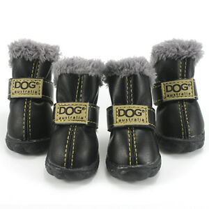 Pet Dogs Shoes Waterproof Small Big Dogs Boots Cotton 4Pcs Non-Slip Boots Set
