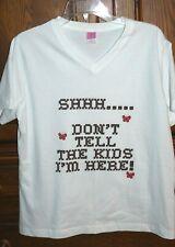 Women's Large Casino T-Shirt Shhhh.Don'T Tell The Kids I'M Here! New & Cute!