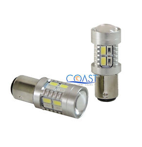 CREE 20 High Power LED Projector Amber & White Turn Signal Light Bulb 1157 2357