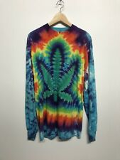 Vintage Tye Die Graphic Long Sleeve Usa Made Shirt 420 Large 80's/90s