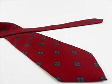 Cravatta VINTAGE Conte San Giorgio bordeau Necktie 100% Seta Silk MADE IN ITALY