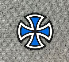 Independent Truck Cut Cross Skateboard Sticker SMALL 2in blue si