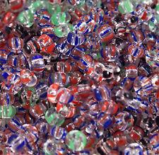 Czech Seed Beads 6 0 Mix Azure Loose 50 Grams