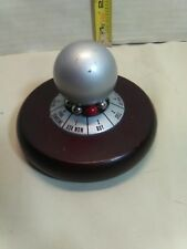 Vintage Executive Decision Maker Boss Gag Gift Desk metal Spinner wooden base