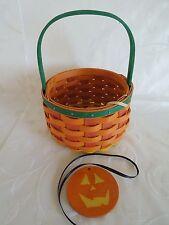 Longaberger~2015 Halloween Pumpkin Ghoulie Basket + Tie On~ New~Ready To Ship