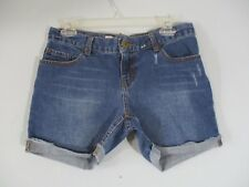 Mossimo Women's Size 4 Premium Denim Boyfriend Distressed Worn Jean Shorts