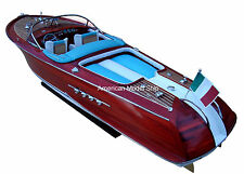 "RIVA AQUARAMA Speed Boat 35"" - Handmade Wooden Model Boat NEW"