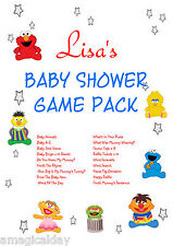 FULL Game Pack on CD | Sesame | Personalised Baby Shower Games | Favour Tag