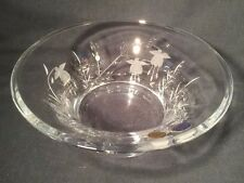 Beautiful Large Bohemia Crystal Bowl/Dish Boxed (ref W823)