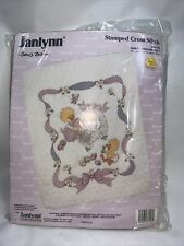 1994 Janlynn Suzy's Zoo Stamped Cross Stitch Baby Quilt Kit Baby's Friends
