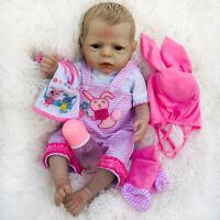 55cm Full Body Silicone Vinyl Reborn Baby Girl Doll Toddler Anatomically Correct