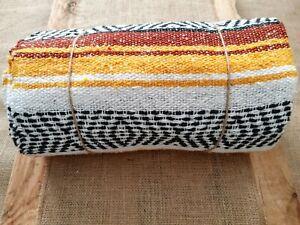 Mexican Falsa Blanket, Handmade, Fairtrade, Yoga Meditation Rug, Throw & Blanket