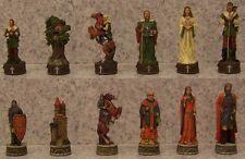 "Chess Set Pieces Medieval Europe Robin Hood vs Prince John  NIB 3 1/4"" Kings"