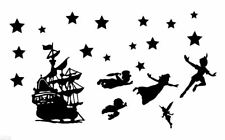 Die Cut Outs Silhouette Pirate Ship Peter Pan, Wendy Toppers Shapes + Free Stars