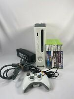 Microsoft Xbox 360 20GB White Console Bundle with 1 Wired controller & 7 games