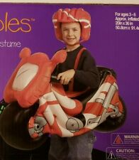 INFLATABLE RIDER MOTORCYCLE FUN PLAY HALLOWEEN WAIRABLES AGE 3 - 6 NEW SEALED