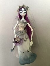 Corpse Dead Bride Emily Doll OOAK polymer Clay Doll, Tim Burton, Halloween, Art