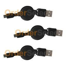 3 USB Micro Charger Cable for Phone Samsung Rugby 4/LG G2 G3 G4 K3 K4 K7 K10 V10