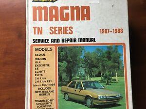 MAGNA TN 1987 88 GREGORYS WORKSHOP MANUAL