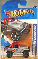 2011 Hot Wheels #133 HW Performance 3/10 TOYOTA LAND CRUISER FJ40 Gray Variation