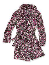 VICTORIA'S SECRET Leopard Cozy Robe Color Pink Hearts Leopard Print XS/S