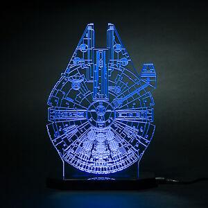 Star Wars Black Series Millennium Falcon model Led light lamp Kids Room Han solo